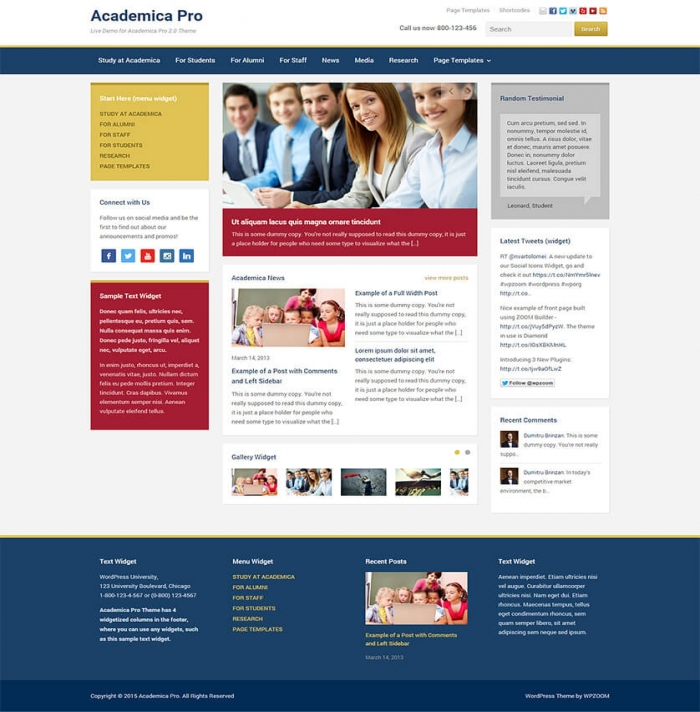 Academica Pro Is A Modern, Flexible And Responsive Wordpress Theme. See  776 View - trang 1