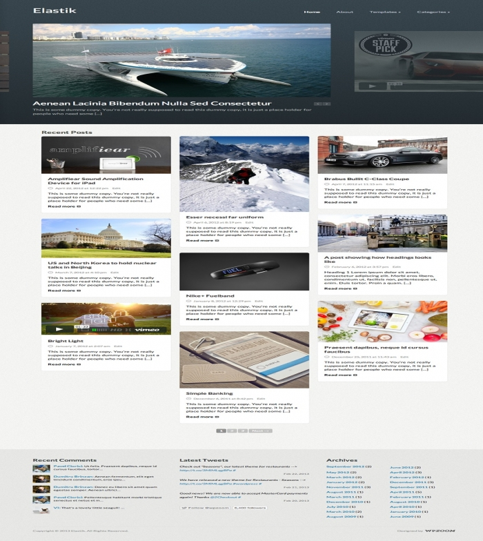 Elastik Is A Beautiful Theme That Will Display Your Posts In A Fluid Grid. See  694 View - trang 1