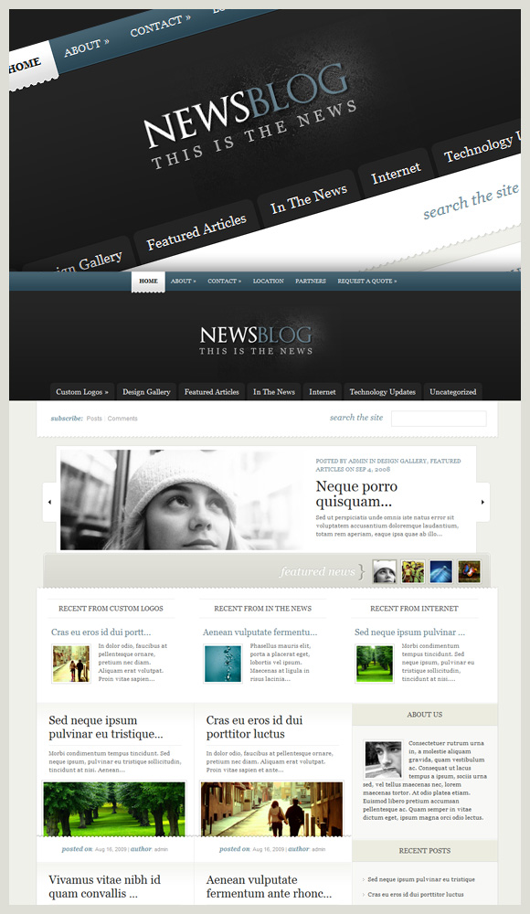 Enews - Beautiful And Original Looking Theme. See  549 View - trang 1
