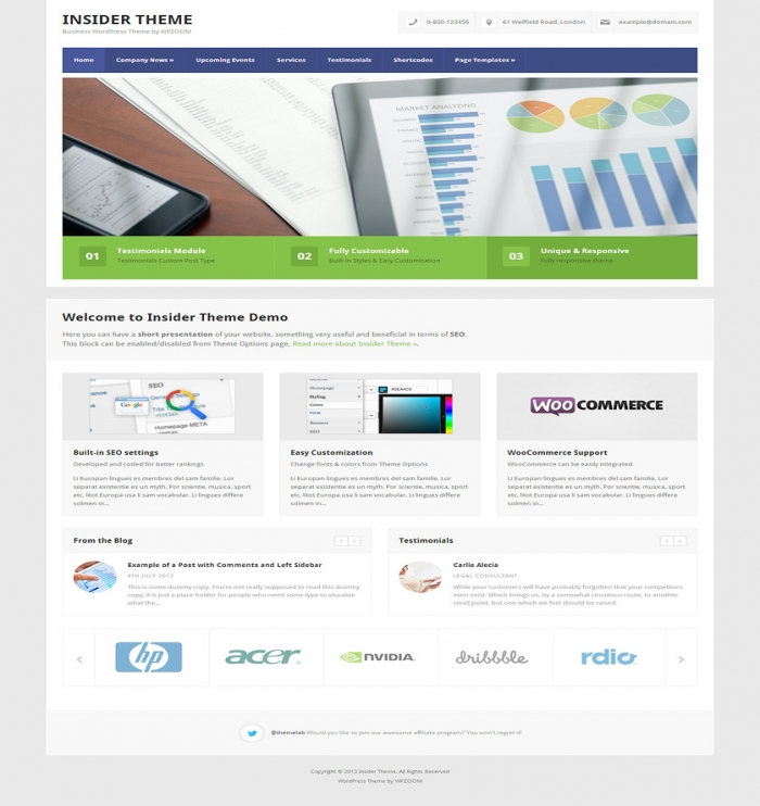 Insider Theme - Flexible And Clean Business Theme. See  615 View - trang 1