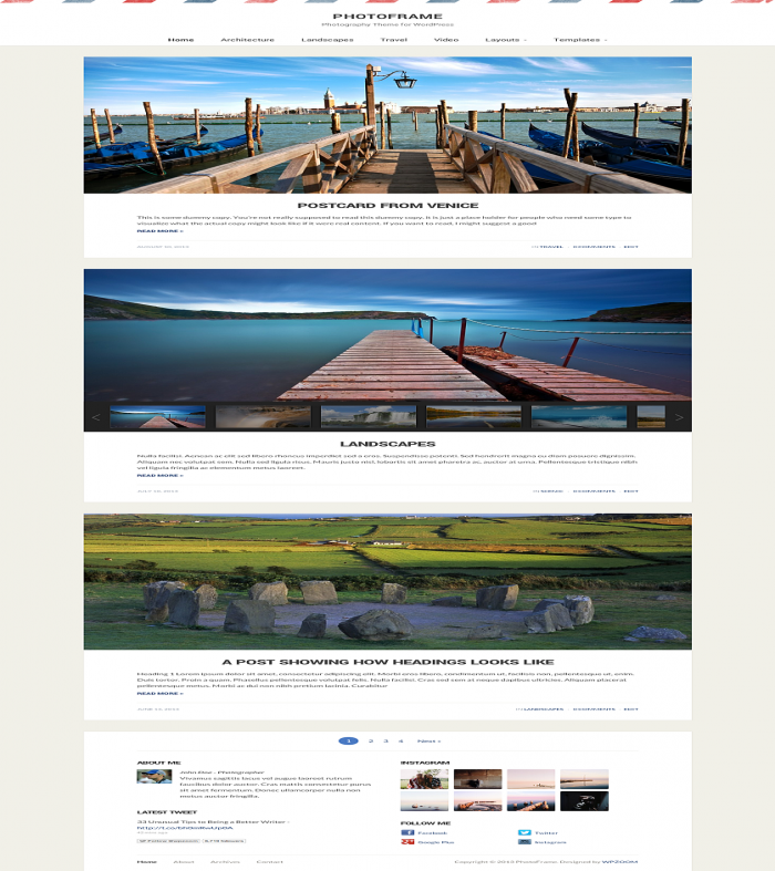 Photoframe Is A Clean, Refined And Responsive Photography / Blogging Theme. See  891 View - trang 1