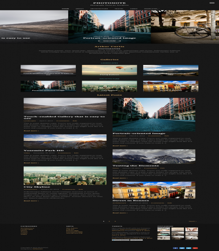 Photonote Is A Beautiful Theme Built For Photographers. See  510 View - trang 1