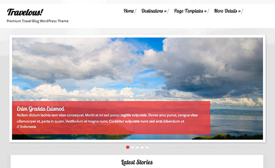 Travelous Theme - The Best Choice For Your Travelling Website. See  579 View - trang 1