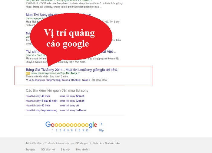 D. Quảng Cáo Google Giá Rẻ  Theo Ngân Sách. Có 2567 Xem  - trang 1