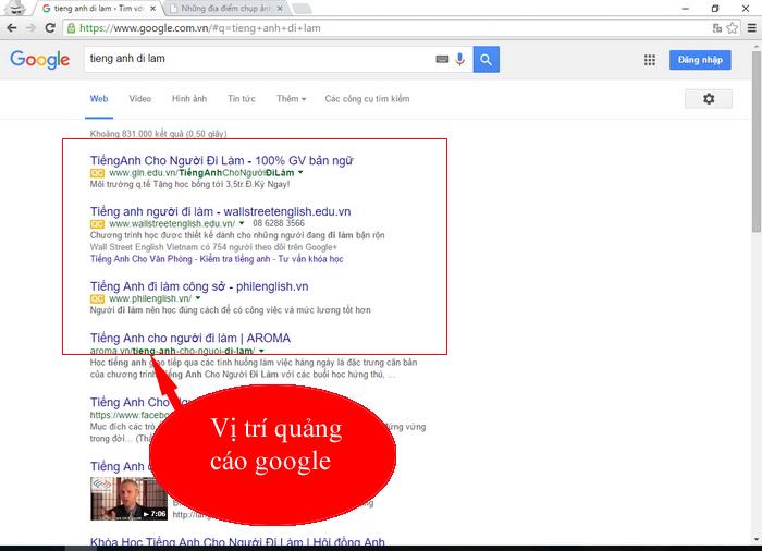Bảng Giá Quảng Cáo Google. Có 6863 Xem  - trang 1