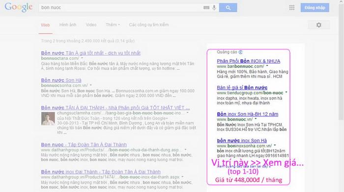 Quảng Cáo Google Giá Rẻ, Quảng Cáo Giá Rẻ. Có 1346478 Xem  - trang 1